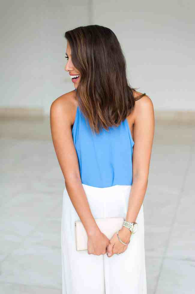 Dress Up Buttercup | Houston Fashion Blog - Dede Raad | Monday Wide Leg Blues