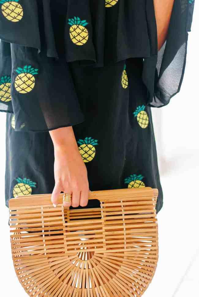 Dress Up Buttercup Houston Blogger in Pineapple Dress Vava boy Jon Han Carys Dress