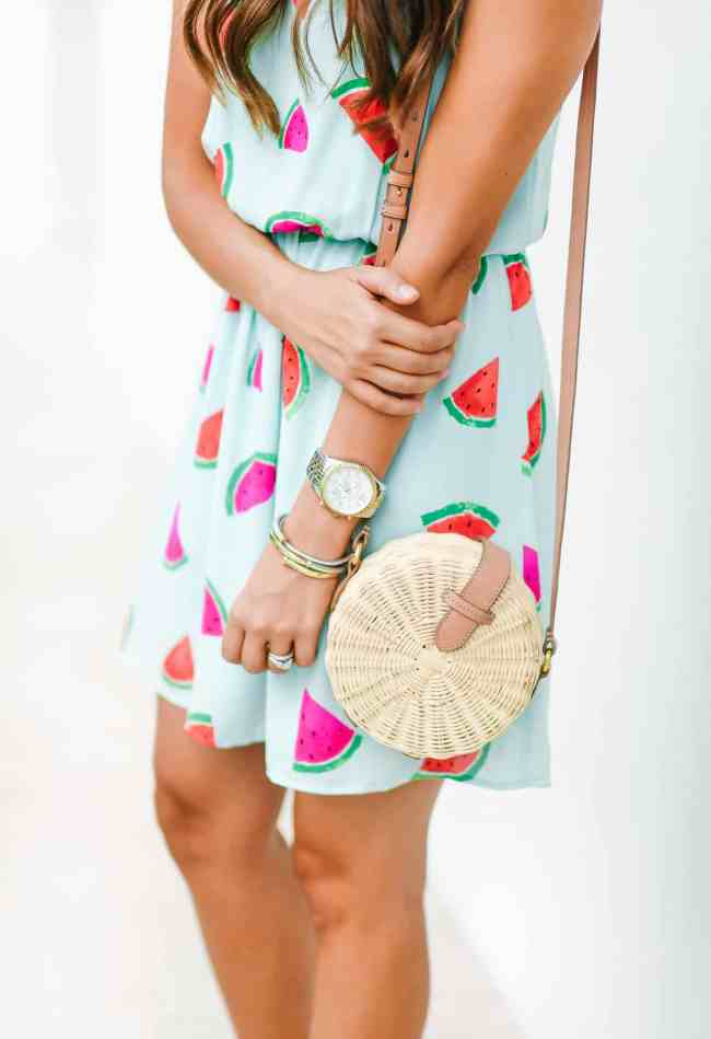 Slices of Watermelon, Dress Up Buttercup, Dede Raad, Houston Blogger, Fashion blogger, Watermelons, Watermelon Dress, mod cloth, mod cloth watermelon dress, everly watermelon dress