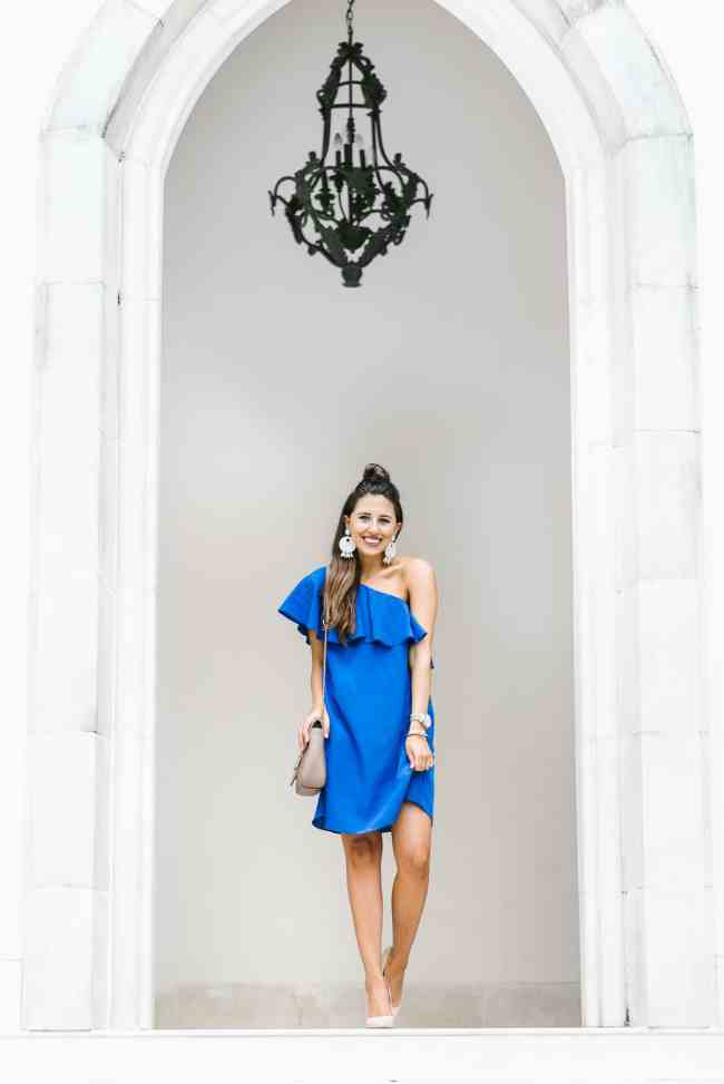 Dress Up Buttercup, Dede Raad, Houston Blogger, Fashion Blogger, One-Shoulder Shift Dress