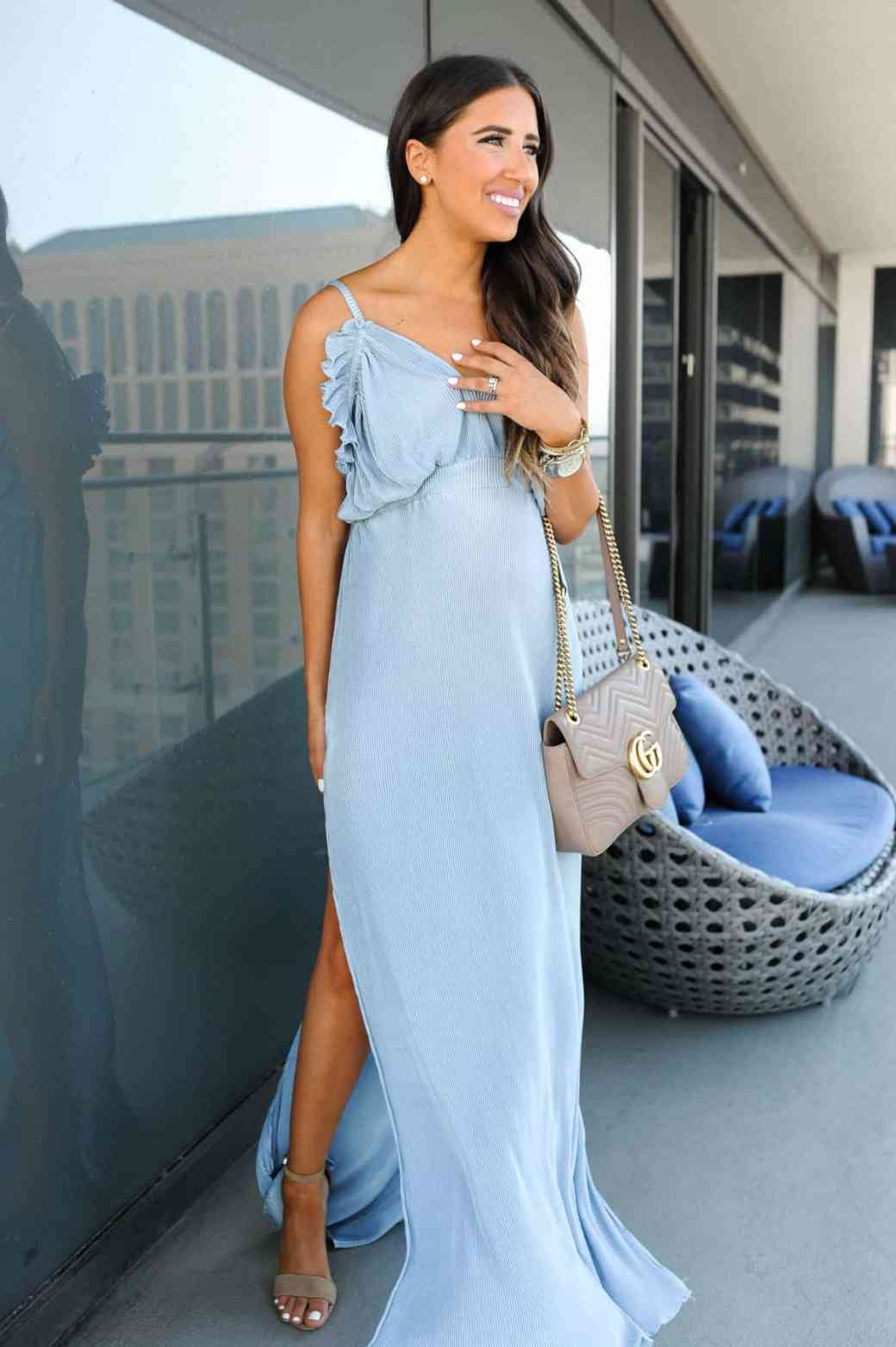 dress up buttercup 5 of 8 - Pleated Blue Maxi