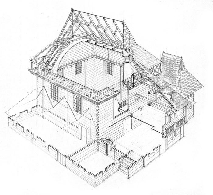 синагога в сечении