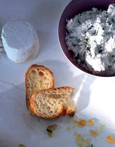 Herbed Goat Cheese Toasts