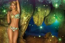 Colombian Model Lina Posada Mystical Down By The River 003