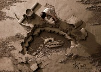 18 Tons of Sand Into Backdrops For Photographs Photos - 003