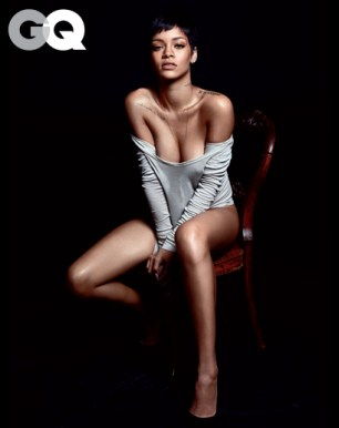 Rihanna Almost Naked for GQ USA December 2012 [Photos] 03