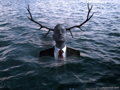 What better way to celebrate Hannibal getting a 3rd season than to turn myself into Will Graham's Antler Man hallucination.