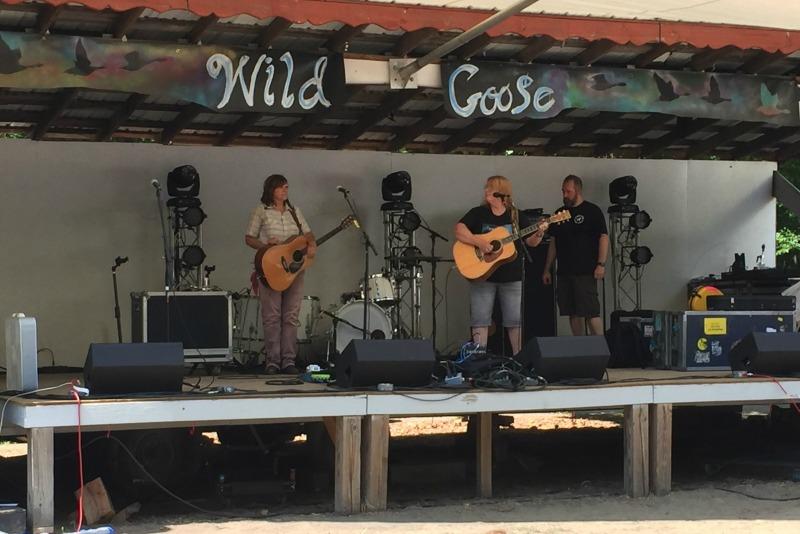 Indigo Girls soundcheck at Wild Goose