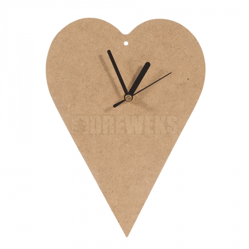 heart shaped clock 200mm