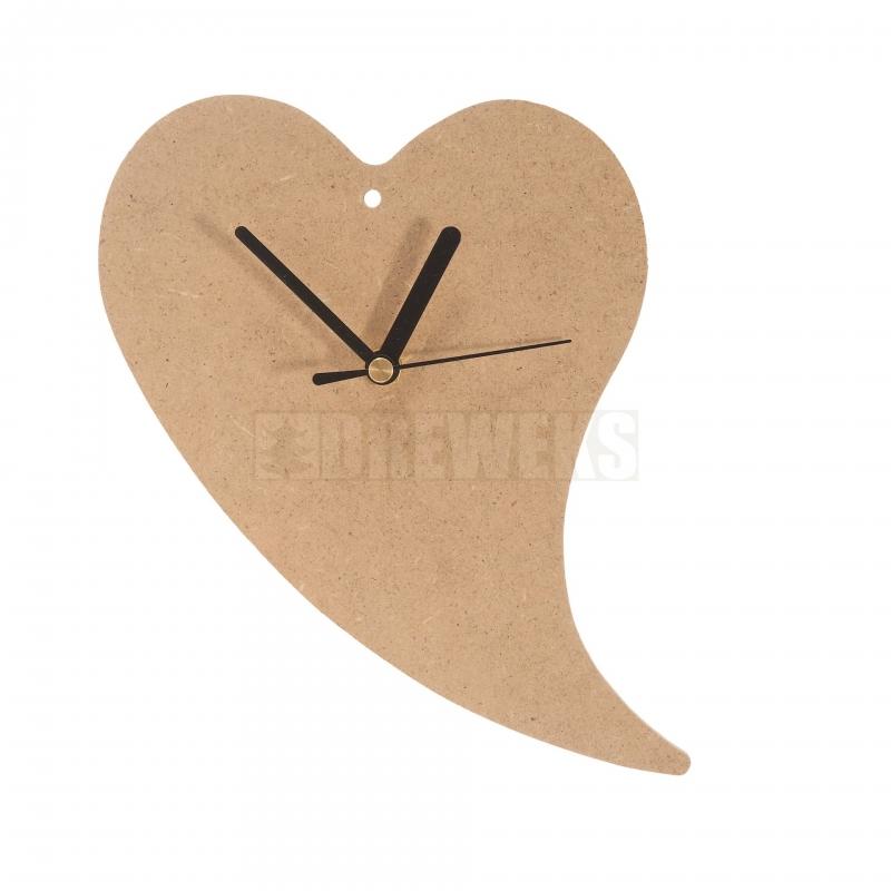 heart shaped clock 240mm