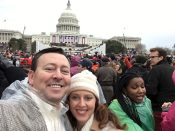 With Amy at the 2017 inauguration