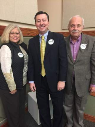 With Horry county supporters Geri McDaniel and Joe Dugan