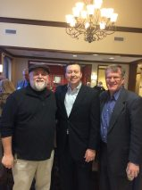 With Florence county supporters Chairman Mal Weatherly and Committeeman Glenn Baum