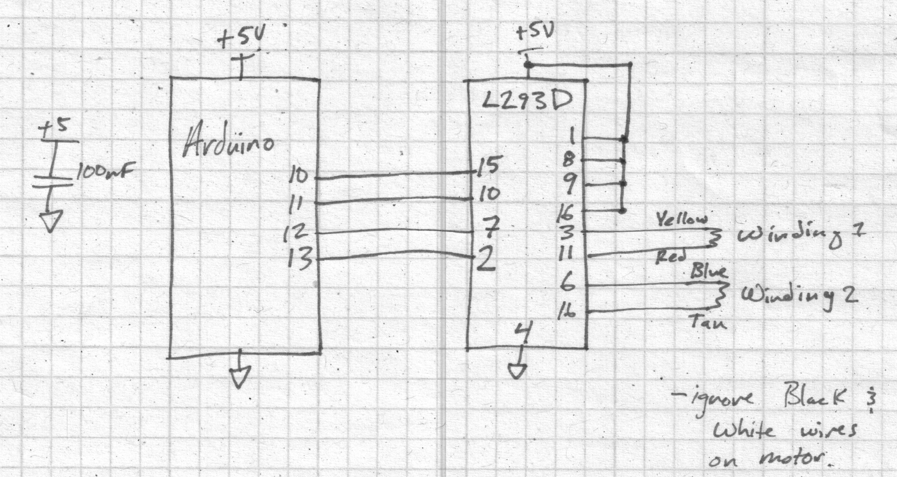 Arduino H Bridge Wiring Diagram