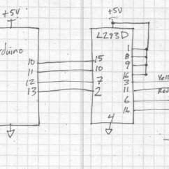 L293d Motor Driver Circuit Diagram Pioneer Avh Radio Ausschalten Arduino And Stepper  Drewforchione