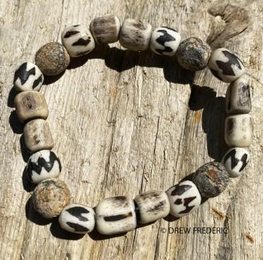 Fossilized Stegodon Beads from Java, Batik Reclaimed Bone Beads, and Kenya Bone Beads