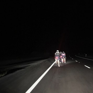 It gets so dark in the country on the roads and the head games are extraordinary. Staying away is a battle too.