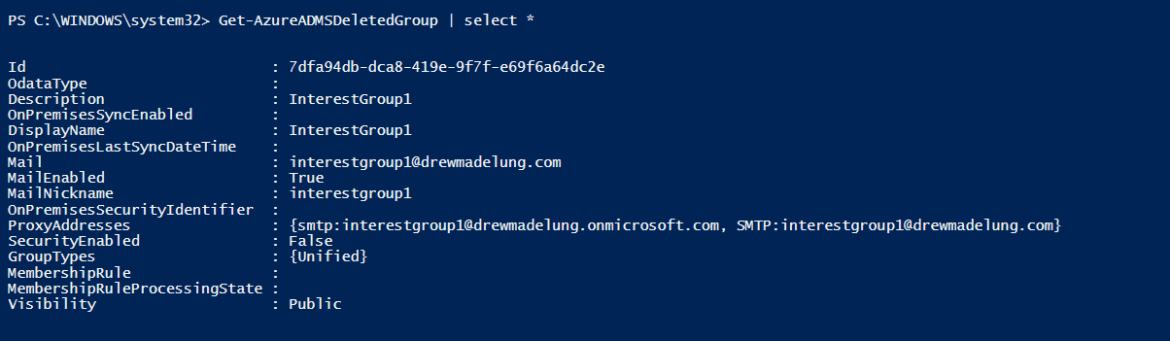 Recovering a Deleted Office 365 Group via PowerShell | Drew