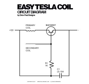 DREW PAUL DESIGNS™   Easy Tesla Coil