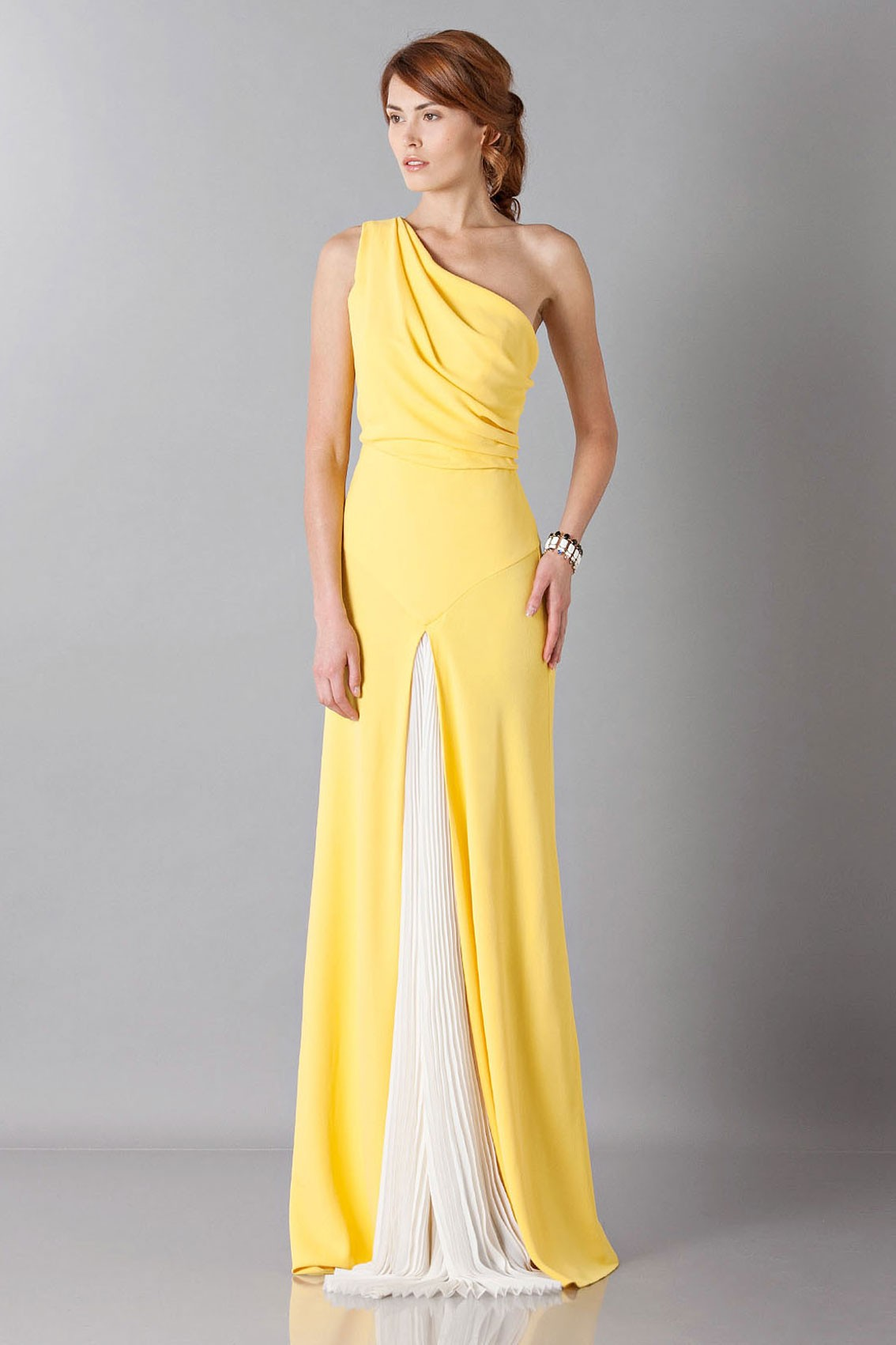 Yellow Shoulder Dress