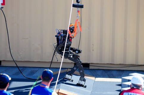 Mother Nature played a big part in the trials, with each robot having to carefully measure its steps while adjusting to the wind.