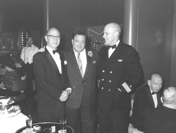 Jackie Gleason was among the celebrities who cruised on the SS United States and frequented the Navajo Lounge.