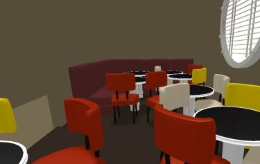 The Navajo Lounge was the first digital modeling project undertaken by the Drexel students.