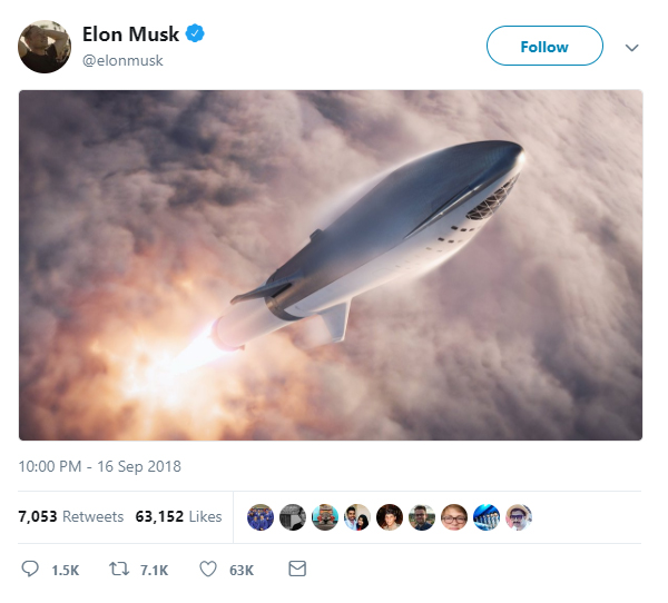 Elon Musk's SpaceX to name first passenger for round-the-moon flight Monday