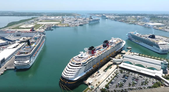 Port Canaveral Hosts Six Cruise Ships at Once, 34,000 Passengers On Memorial Day