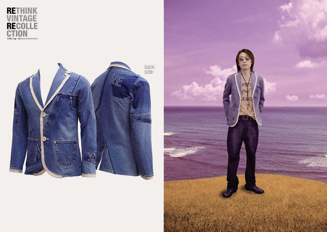 in the Rye x Drezier Communications :: Rethink Vintage blazer on model