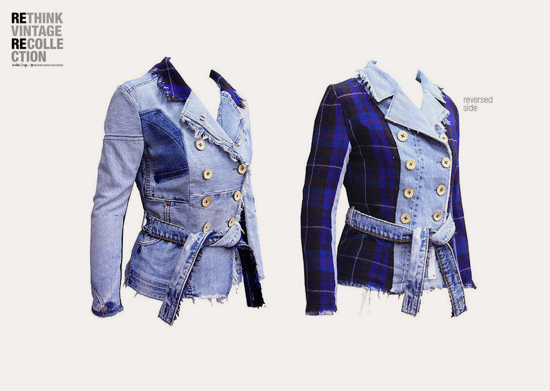 in the Rye x Drezier Communications :: Rethink Vintage femme blazer #01