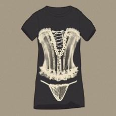 womenswear black tee ivy white corset print top bottom rendering | British Fashion Denim Retail Brand – Lee Cooper in China :: RDLC collection fashion graphics