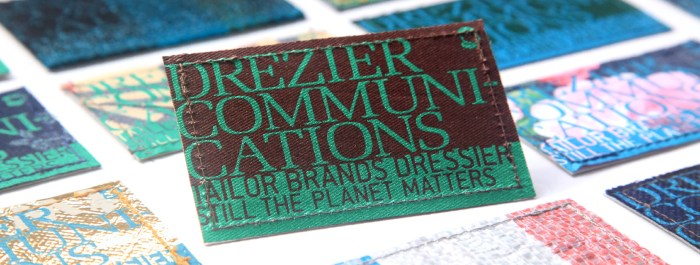 Drezier Communication Recycling/Upcycling Name Cards :: Tailor Brands Dressier. Still the Planet Matters.