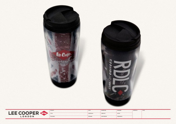 premium development, warm coffee mug, 2 versions black ruggedness graphics LUCK RDLC collection, Christmas 2010 UK heritage | British Fashion Denim Retail Brand - Lee Cooper in China :: retail design & retailing graphics