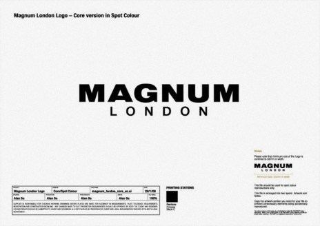 vertical full logo on white   Magnum London :: Brand identity design