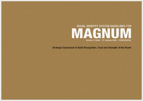 visual identity system guideline cover, VIS CIS, new identity revamp design | British Fashion Retail Brand – Magnum London :: holistic branding
