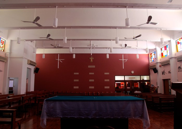 Ricci Hall Chapel :: revamp with lighting design