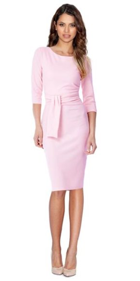 Businesskleid Etuikleid Belay rose knielang 3/4 Arm