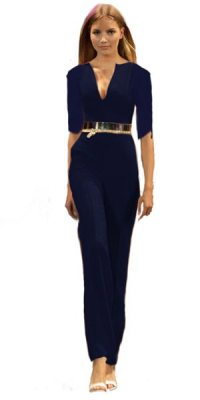 Jumpsuit Angelina lang navy 3/4 Arm