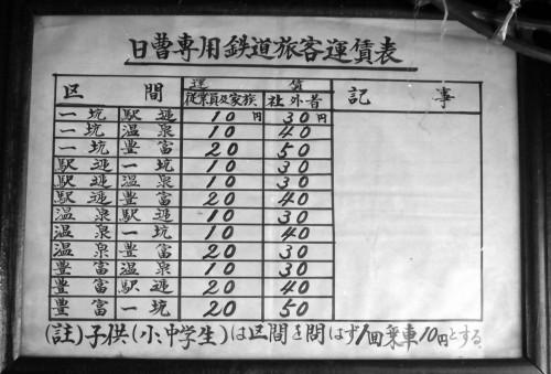 社員、社外者、子供で料金が違う。それでも最高学50円。