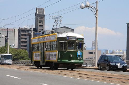 新己斐大橋を渡る 3号系統西広島行き