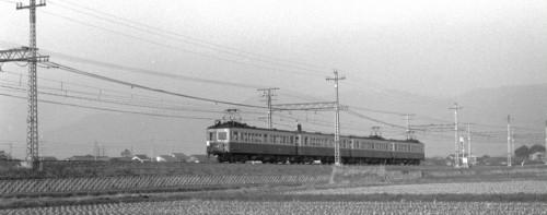 昭和45年3月25日 桃山南口・六地蔵間 550,580型をはさんだ4連