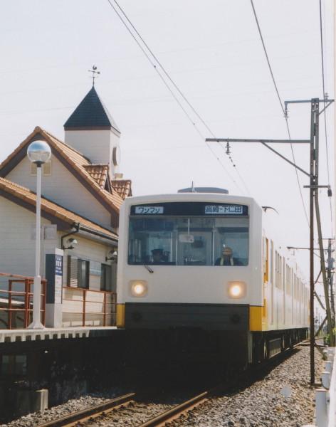 クモハ1201+クモハ1001 下仁田行13列車   東富岡駅にて