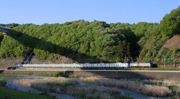 東京メトロ16025他10連 甲種回送8862レ 山陽本線本郷・河内間