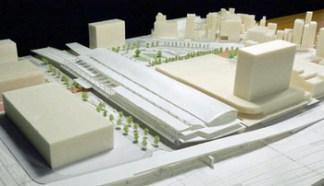 新たなJR新駅ビルは商業施設やオフィス、ホテルの複合施設となる予定。