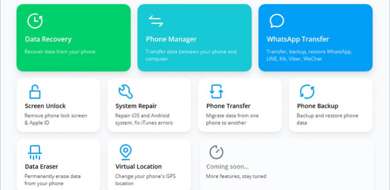 transfer contacts from android to iphone with dr.fone