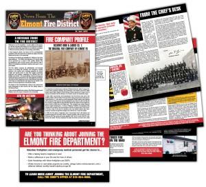 drgli elmont newsletter 1 design print work