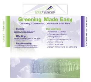drgli green peak tradeshow booth design print work