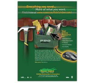 drgli nassau suffolk lumber pronetwork ad design print work