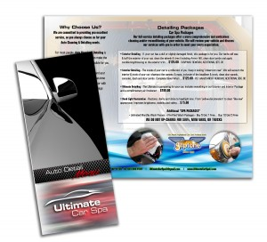 ultimate car spa brochure